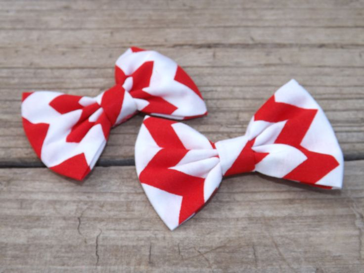 Chevron Pigtail Bows/ Red and White Chevron bow/ Blue and White Chevron Bow/ Fabric Bow Depot Pigtail Set for toddlers/babies/little girls. by TheFabricBowDepot on Etsy
