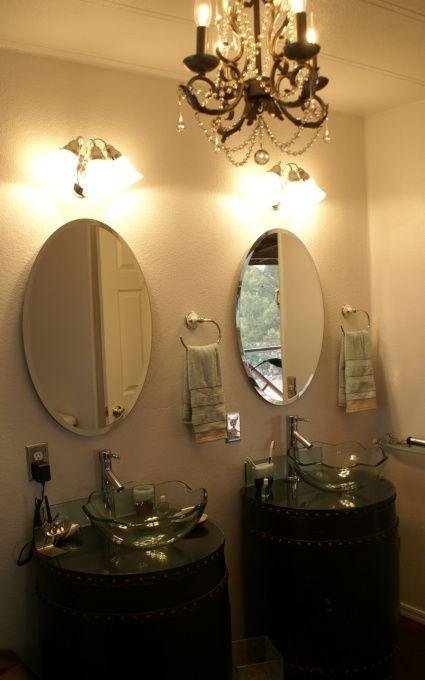 149 best home remodel ideas images on pinterest mobile for Mobile home master bathroom remodel