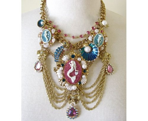 Betsey Johnson Mermaid Necklace Too Much I Don T Think