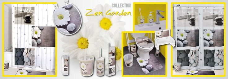 Zen Garden Printed Vinyl Shower Curtain