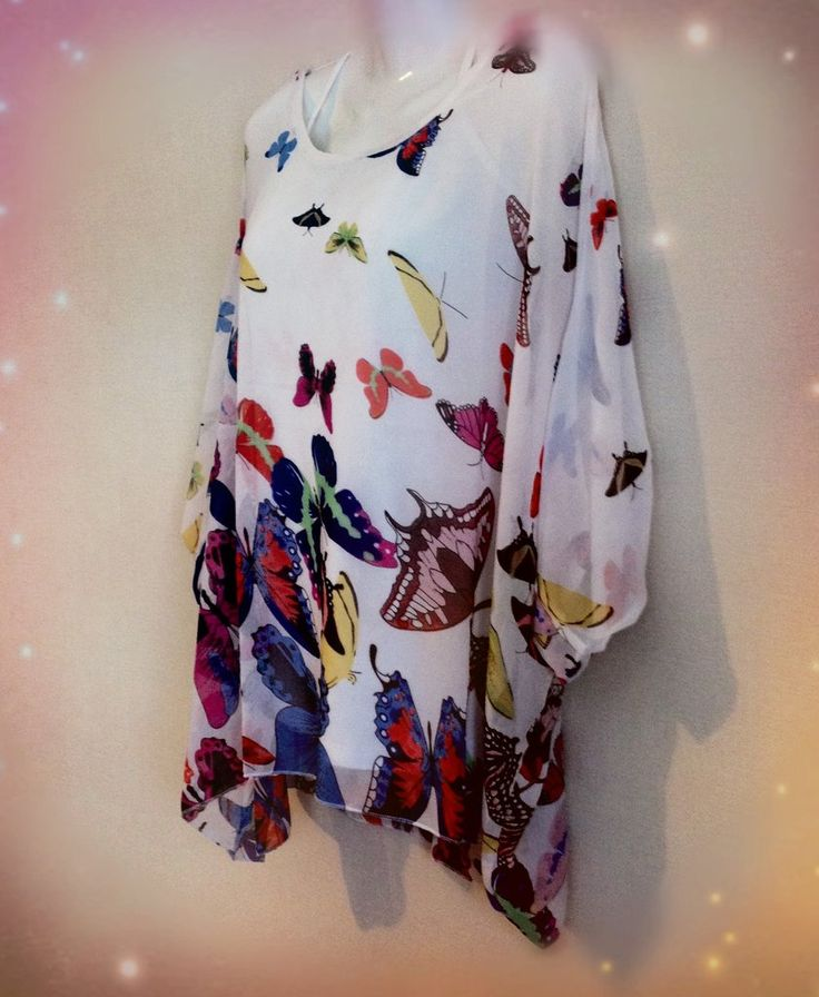 Butterfly Bohemian style Blouse with Batwing sleeves