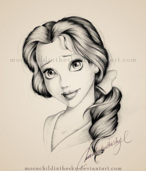 Belle Portrait BnW by moonchildinthesky.deviantart.com on @deviantART