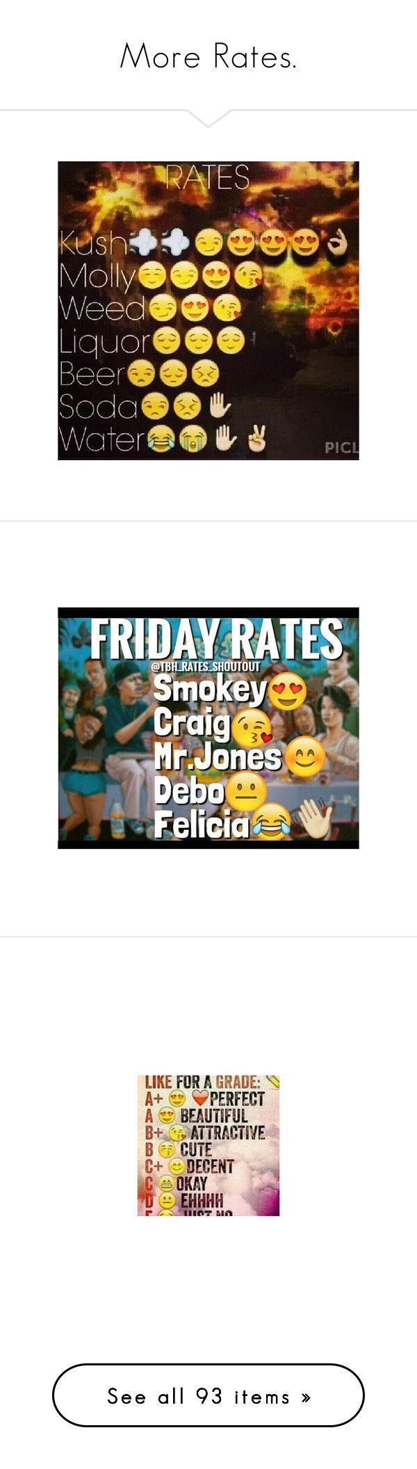"""""""More Rates."""" by flawlessmajestydoe ❤ liked on Polyvore featuring text, emoji, fillers, pictures, quotes, random, rates, tumblr, backgrounds and fillers // backgrounds"""