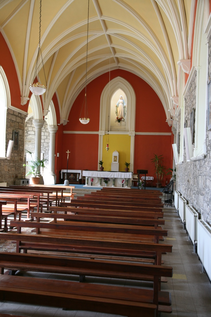 St. Kevin's Church in Glencree Village The church has a seating capacity of 120 people.