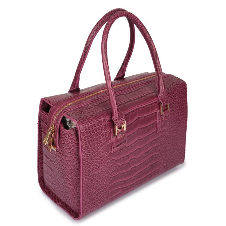 """Crying out for Croco this AW15/16?! Cry no more...here is the beautiful """"Vanessa"""". Get yourself one in Purple, Coffee, Black or Grey from www.borsetta.london xx Hols xx"""