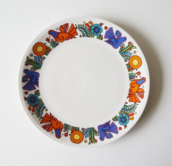 Mid Century Dinner Plate By Villeroy And Boch Decor Acapulco In