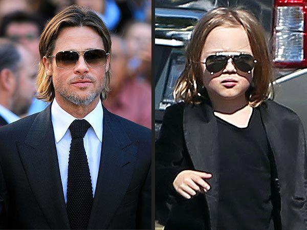 Knox Jolie-Pitt Steals Brad's Cool Look #celebritydads, #ecofamilies