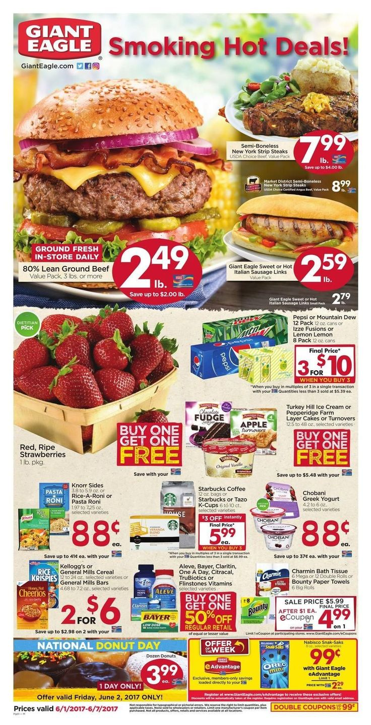 Giant Eagle Weekly Ad Circular June 1 - 7 United States #grocery #savings #GiantEagle