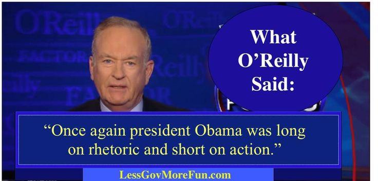 .O'Reilly on President Obama's speech today (2/18/15). No surprises. Consistent mediocrity. #RR #YAL #RedNationRising