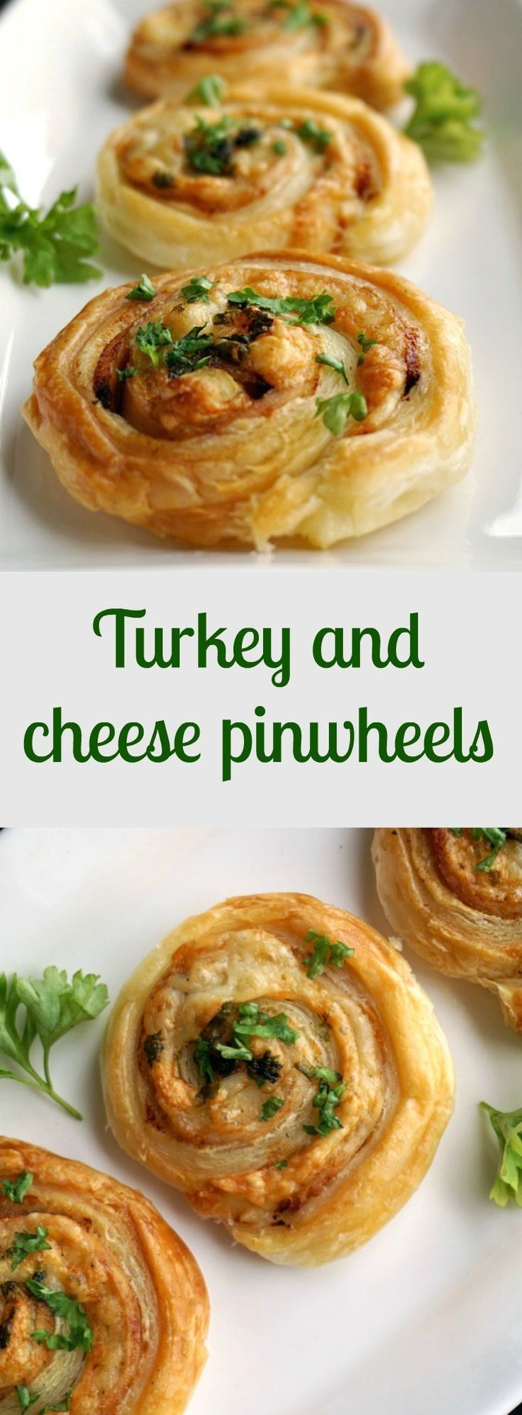 Turkey and cheese pinwheels, a fancy appetizer for any family gathering, party or picnic. Easy to make, with a delicate smokey flavour, these bites will not last long on the plate. Make  sure you grab one before they are gone!