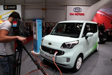 Kia Ray Electric Vehicle Concept at the 2012 #genevamotorshow #auto #cars