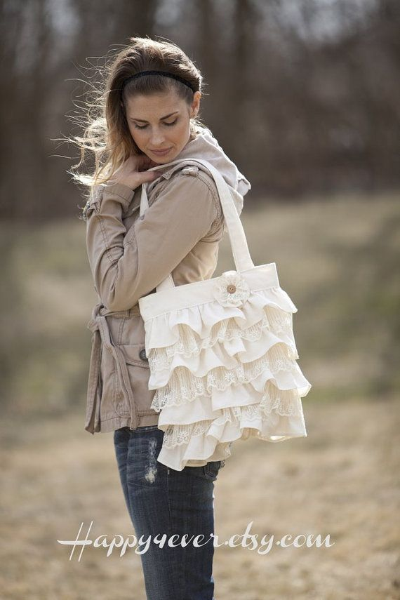 Ok how cute is this purse? Ruffles and Lace Purse by happy4ever on Etsy, $46.00