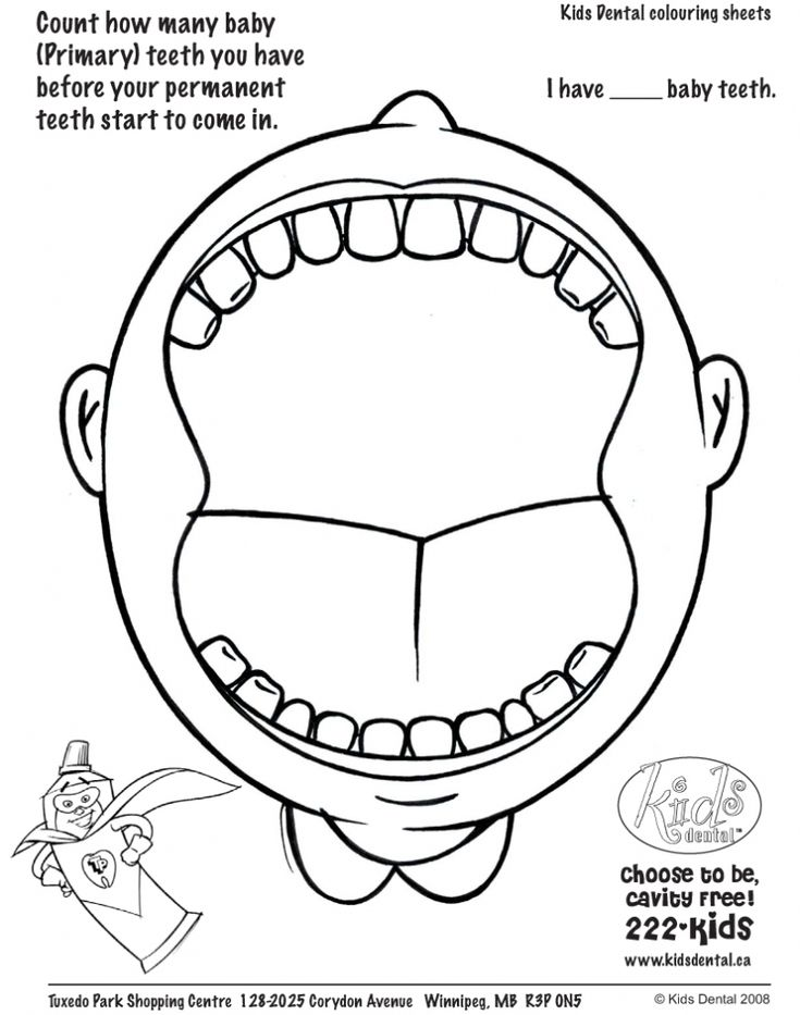 Dental Coloring Pages Activities Archives Best Coloring Page With