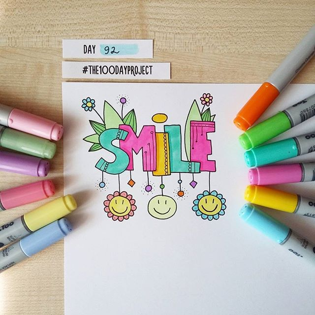 #100daysofdooodles2 #100dayproject #100daysproject #doodle #drawing #draweveryday #markers #smile #inspiration #art #рисунок #маркеры #вдохновение