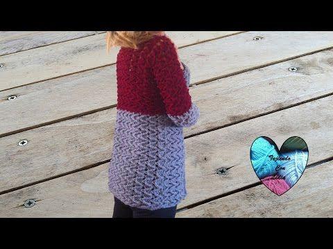 Crochet: Abrigo cardigan chaqueta mujer tejido a crochet parte 1/3 - YouTube