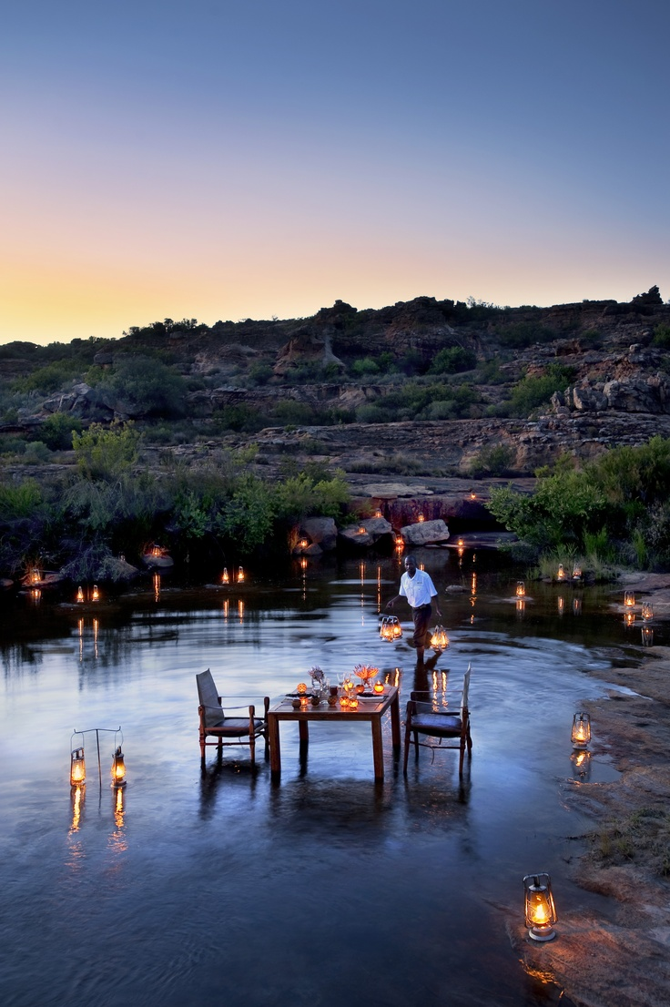 This incredible dining experience is at Bushmanskloof in the Cedarberg Mountains, north of Cape Town, within an easy two hour drive of South Africa's 'Mother City'. This property has romance and exclusive luxury down to an art form.
