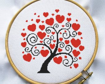 Birds on tree Counted cross stitch pattern by MagicCrossStitch