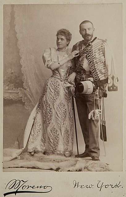 La Infanta Doña Eulalia (1864-1958) con su esposo el Infante Antonio de Orleans (1866-1930).  Infanta Eulalia of Spain (1864-1958) along with her husband Infante Anthony of Orleans (1864-1930).
