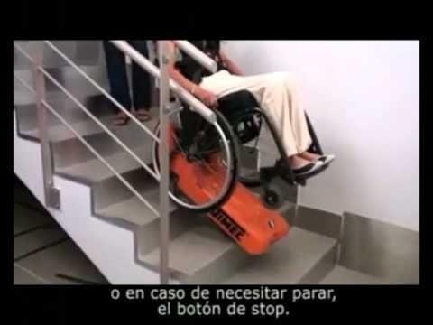 Oruga Salvaescaleras, Tractor de Orugas para movilizar sillas de ruedas por sobre las escaleras - YouTube