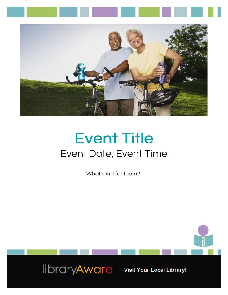 "Our 3-layer flyers make it fun to make flyers! Make the design uniquely yours by changing the image or color and font swatches. Search flyers-events for ""seniors"" to find this design."