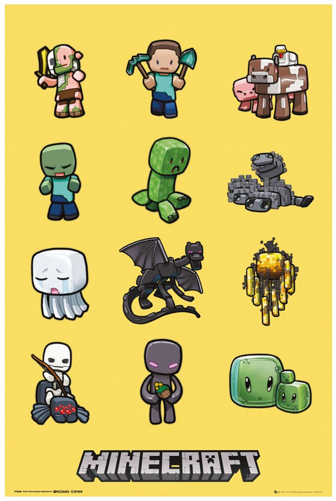 MINECRAFT Characters - Maxi Posters #minecraft #fanart