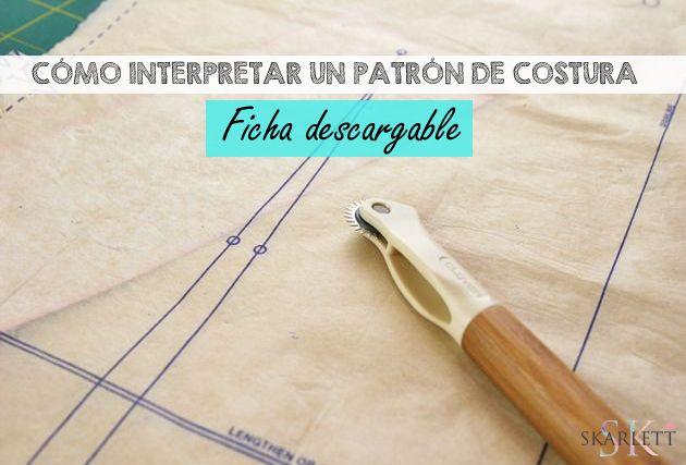 Cómo interpretar un patrón de costura / Ficha descargable