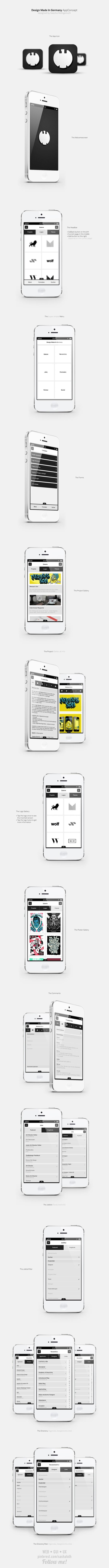 DMIG AppConcept -  Sascha Wohlgemuth, via Behance
