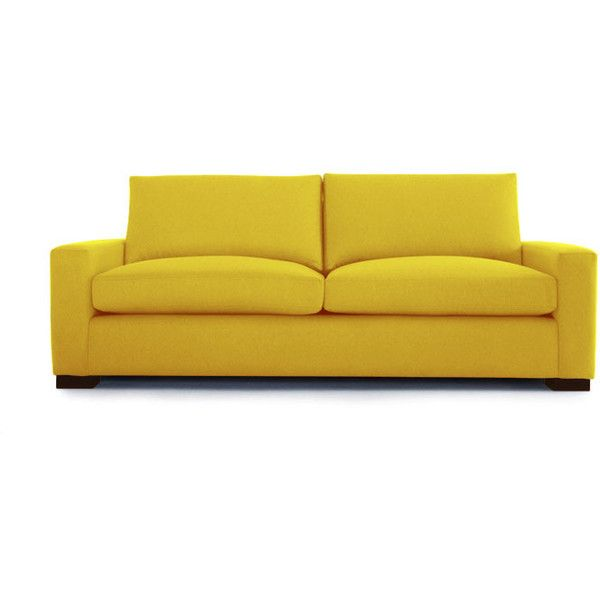 Joybird Contemporary Anton Leather Sofa ($4,039) ❤ Liked On Polyvore  Featuring Home, Furniture