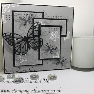 Stamping with Stazzy: ❀ White & Silver Embossed Card ❀ Good Morning Eve...