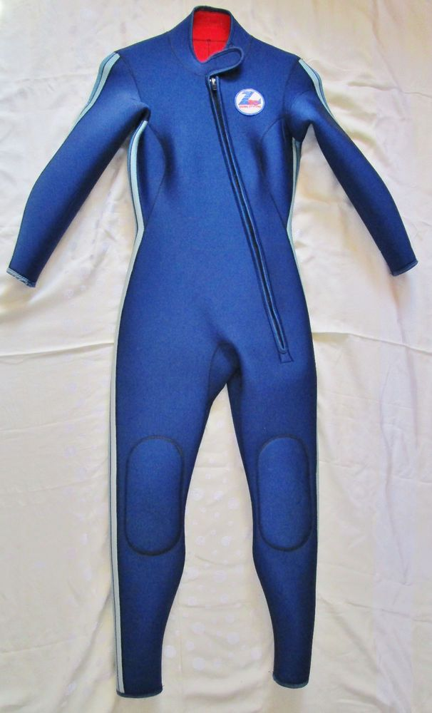 Women's Z90 Diving Systems Full Body One Piece Scuba Wetsuit Small Blue READ #z90DivingSystems