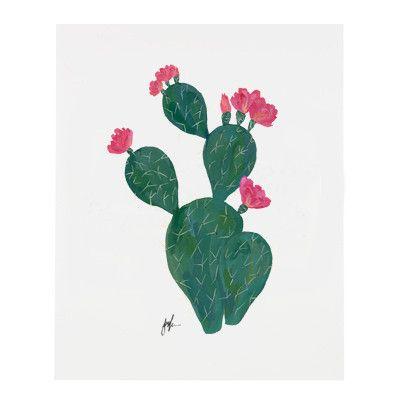 Flowering Cacti V Print #all #art-prints, $25