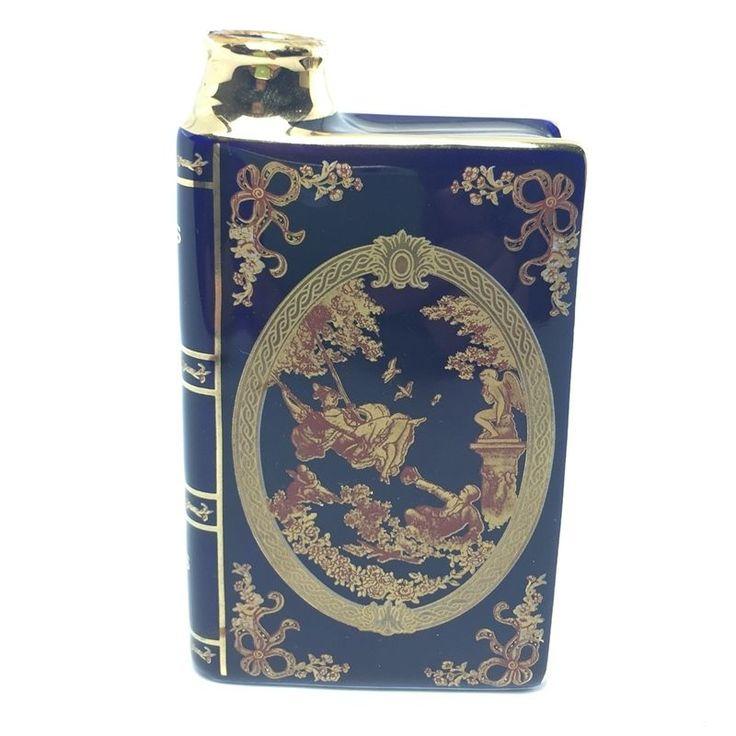Napoleon Cognac Wine Camus Book Vintage Porcelaine Castel France 22 K Gold Good #LimogesCastel