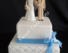 Wedding Cake with personalised Cake topper