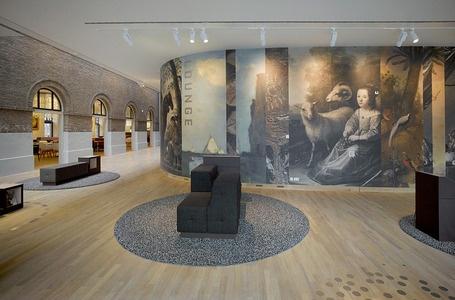Vescom skaitmeninė skaupa ant vinilinės sienų dangos. Dordrechts Museum, Holland