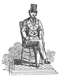 Lodge Master, Stars, Crossed Legs, Freemasons, Freemasonry, Freemason