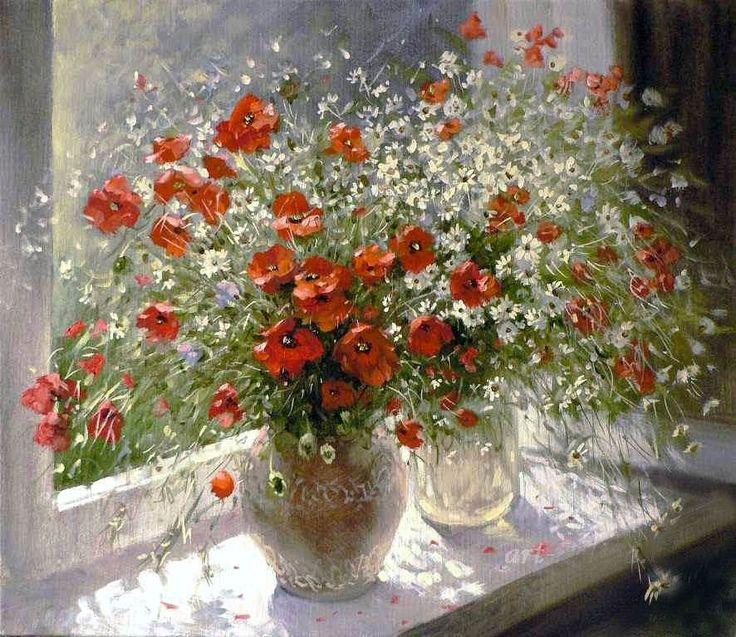 Delicado arranjo ! Flores que lembram ser colhidas de um campo .