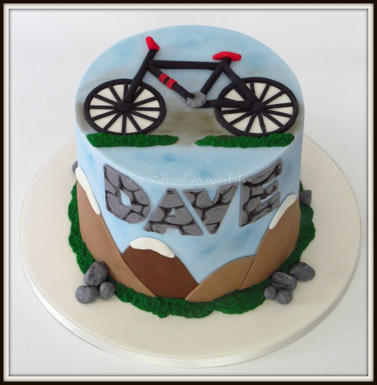 Mountain bike themed cake