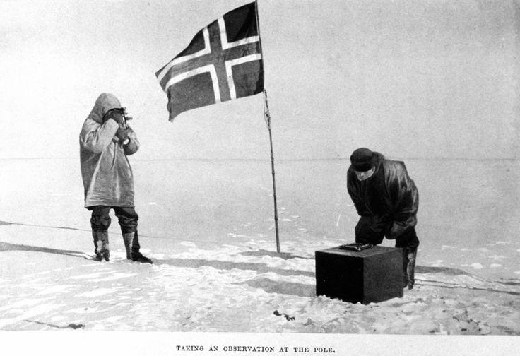 El 14 de diciembre de 1911 la bandera de Noruega ondeaba en el Polo Sur, Amundsen lo había logrado.