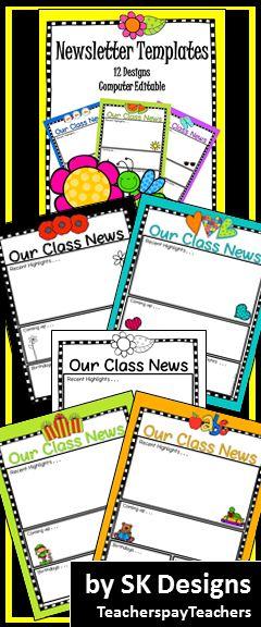 Best Classroom Newsletter Images On   Newsletter