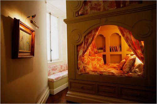 built in bed!Cozy Nooks, Dreams, Little Girls Room, Bunk Beds, Kids Room, Book Nooks, Reading Nooks, Bedrooms, Cozy Beds