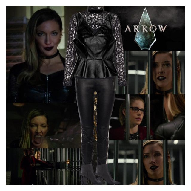 """""""Arrow~Black Siren~5x10~Who Are You?"""" by tvshowobsessed ❤ liked on Polyvore featuring York Wallcoverings, Alexander McQueen, Essentiel, Robert Rodriguez and Simons"""