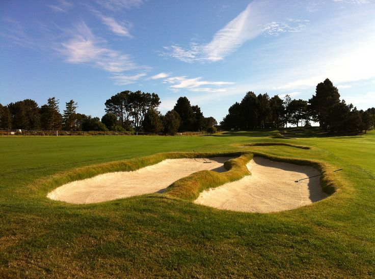 © VGC   Hole 3   Road Hole   The most difficult hole on the course, this up-hill par four features a long, narrow, three-tiered green built into a hillside. Three-putts can be the norm and five-putts are not uncommon. The name is a constant reminder that out-of-bounds lurks the entire length. #golf #golfcourse #westcoast #yyj #victoriagolfclub
