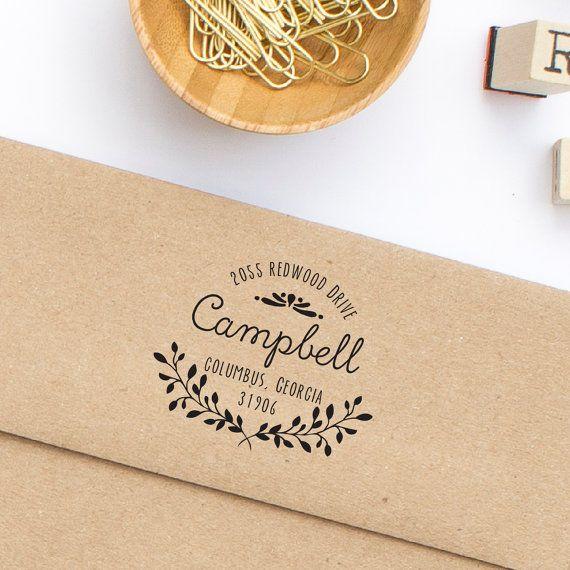 Return Address Stamp  Self-Inking Address by HelloWorldStamps