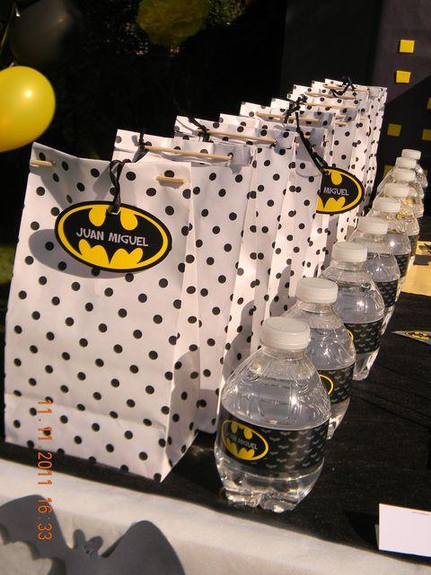 Batman Birthday Party Favors #batman #partyfavors