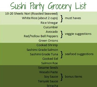 At Home Sushi Party- fun!
