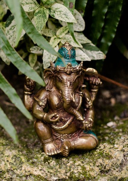 Ganesh is the elephant headed deity, the remover of obstacles, and one of the most sacred Devas (angels) in the Vedic tradition.This statue is handmade in Western Bali, Indonesia. It's also a loving addition to your altar — a place for you to practice meditation, honour your intention, and manifest new dreams.