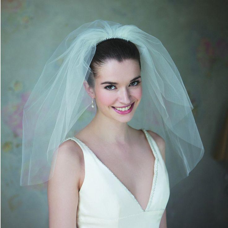 Classic 50's bouffant style veil @ Mia Sposa Huddersfield 01484421900