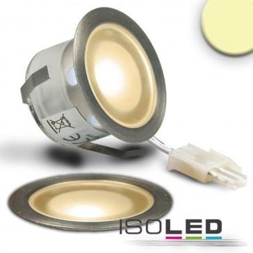 "LED Bodenstrahler ""SLIMEYE"", rund, IP54, edelstahl, warmweiss / LED24-LED Shop"