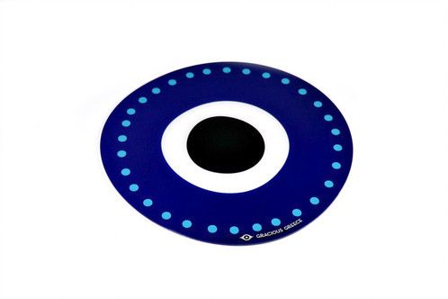 Blue evil eye | plexiglass placemat | screenprinted & lazer cutted | designed and made in Greece