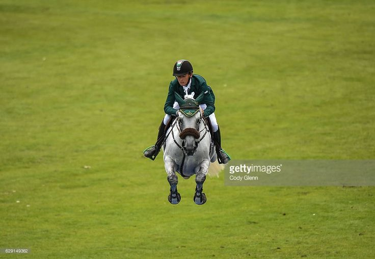 Dublin , Ireland - 22 July 2016; Bertram Allen, Ireland, competes on Hector van D'Abdijhoeve during the Furusiyya FEI Nations Cup presented by Longines at the Dublin Horse Show in the RDS, Ballsbridge, Dublin.